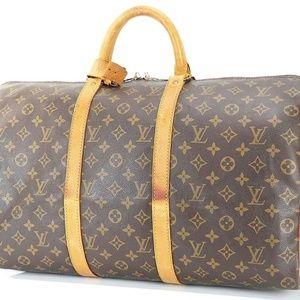 Auth Louis Vuitton Keepall 50 Duffel Bag #1781L26